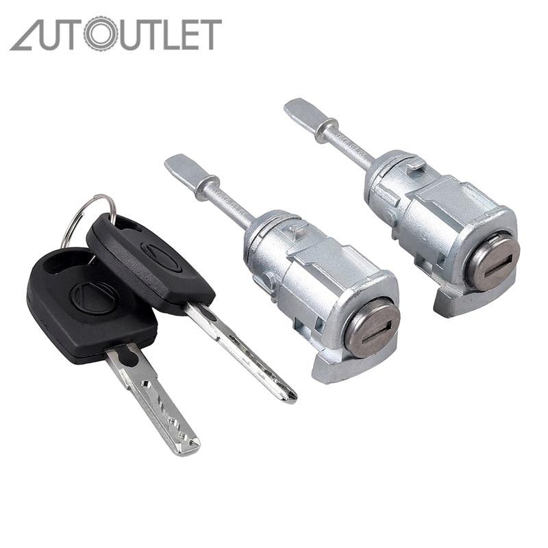 AUTOUTLET 2 Pcs CLOSING CYLINDER For VW PASSAT B5 3B (96-05) LUPO DOOR LOCK KEY LEFT RIGHT 3B0837167 3B0837168