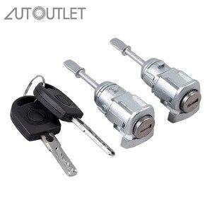 Image 1 - Autport 2 قطعة اسطوانة إغلاق لشركة فولكس فاجن باسات B5 3B (96 05) ل LUPO مفتاح القفل الباب اليسار واليمين 3B0837167 3B0837168