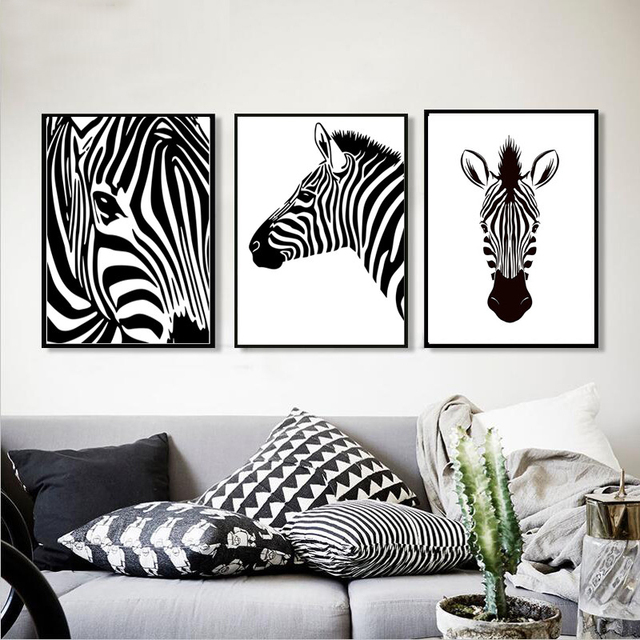 Moderne minimalistische decor foto zebra schilderen op canvas moderne minimalistische decor foto zebra schilderen op canvas abstract zwart wit muur posters zebras prints slaapkamer altavistaventures Image collections