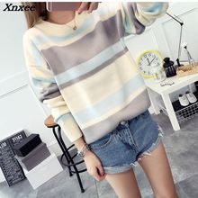 Womens Sweaters For Winter 2018 Women Casual Pullover Lady Sweater O-neck Xnxee