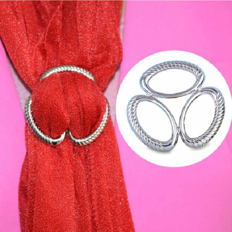 Korean Simple Vintage Design Letter H Scarves Buckle Brooches For Women Fashion Dress Scarf Brooch Pins Jewelry Accessories Gift