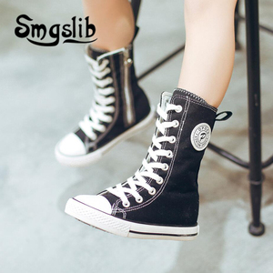 Image 4 - Kids Shoes Girls Children High Canvas Sneaker Shoes Boy Trainers Toddler Teenager Classic Casual Shoes 2018 Spring Autumn