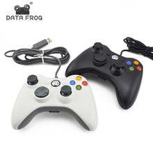 цена на Data Frog Gamepad for Xbox 360 Wired Controller for Xbox 360 USB Joystick for PC Game Controller Joystick Black White Gamepad