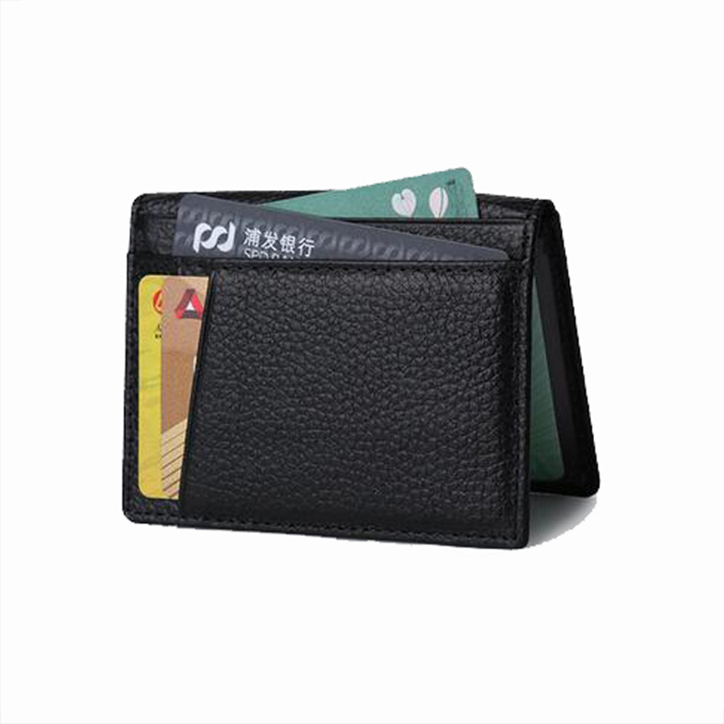 Ultra-thin Card Holder Bank Cards Men Mini Slim Wallets Genuine Leather High Quality Card Case Men's Business Namecard Holders hot yuri on ice unisex name id business card holder wallets plisetsky yuri 28 bank credit card case holders card holder purse