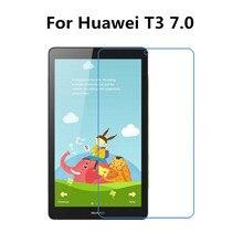 Закаленное Стекло Экран Защитная пленка для Huawei MediaPad T3 7,0 BG2-W09 7 дюймов планшетный ПК+ спиртовая салфетка+ Стикеры для удаления пыли