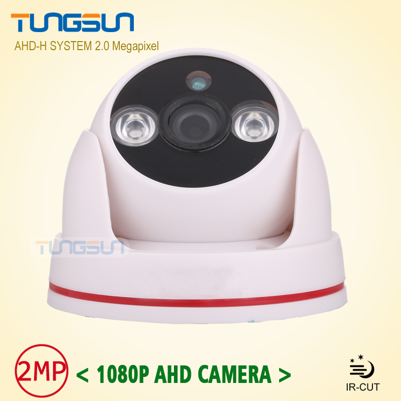 New Arrival 2MP HD 1080P AHD Camera Security CCTV White indoor Dome Video Surveillance 2*Array infrared AHD-H System new home 2mp hd ahd 1080p camera security cctv white dome 2pcs array infrared night vision surveillance camera ahd h system