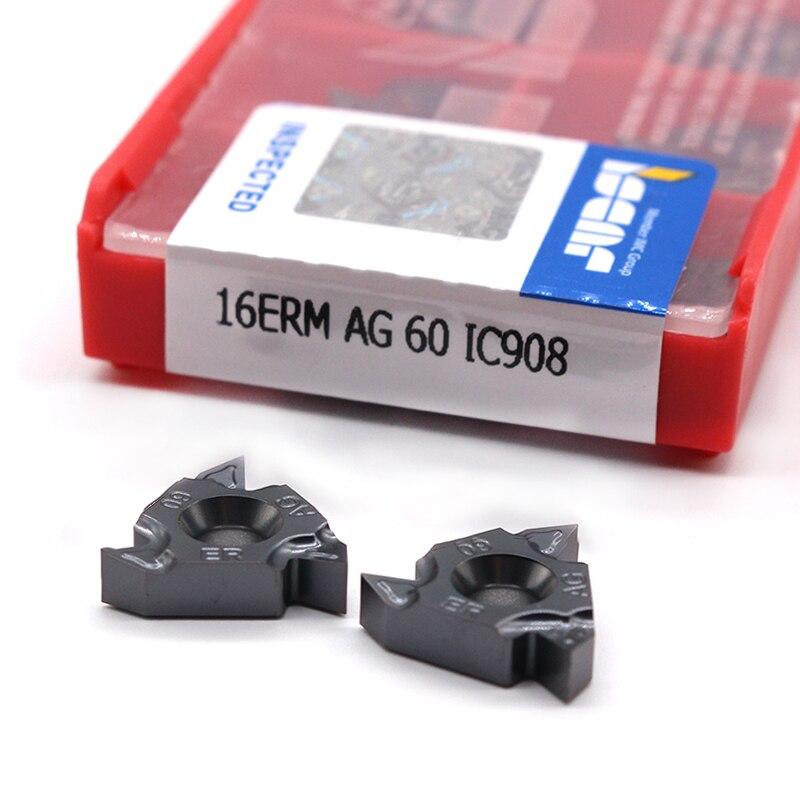 ISCAR 16ER AG60 11IR A60 16IR AG60 A60 G60 22IR 22ER 60 Fil angle outils de tournage CNC Tour Carbure De Tungstène insérer Cutter Outil