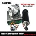 Бесплатная доставка 0.5kw шпиндель с воздушным охлаждением двигатель ER11 патрон 500 Вт шпиндель мотор постоянного тока и УФ-фильтр 52 мм с зажима...
