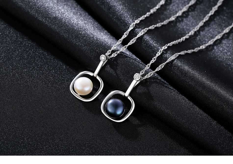 S925 sterling silver pendant water wave chain item natural freshwater pearl necklace female LBA04