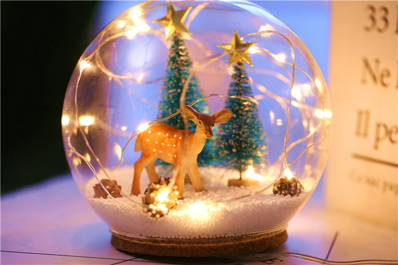 Creative LED Crystal Ball Design Table Lamp Room Decor Bedside Night Light For Girls Baby New Year Christmas Birthday Gift (25)