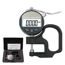 0,001 мм электронный толщиномер микрометр толщиномер тестер с RS232 выход данных 10 мм Цифровой толщина микрометра метр