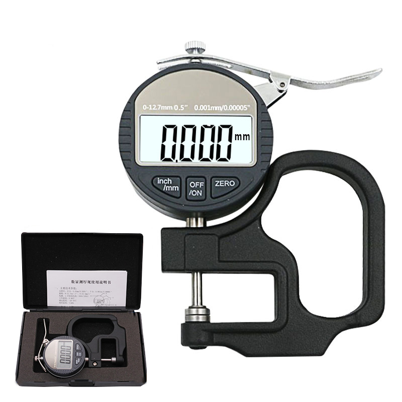 0 001mm Electronic Thickness Gauge Micrometro Thickness Tester With RS232 Data Output 10mm Digital Micrometer Thickness Meter