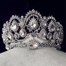 Fashion Jewelry Good Quality Hot Marry Bride Crystal Crown Hairwear Wedding Princess Headbands Accessories Wholesale XM-01
