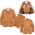 Corduroy Wedding suit for Boys blazers for Weddings Boy Formal Dress Kids Jackets set Children 4 Piece Tuxedo suit