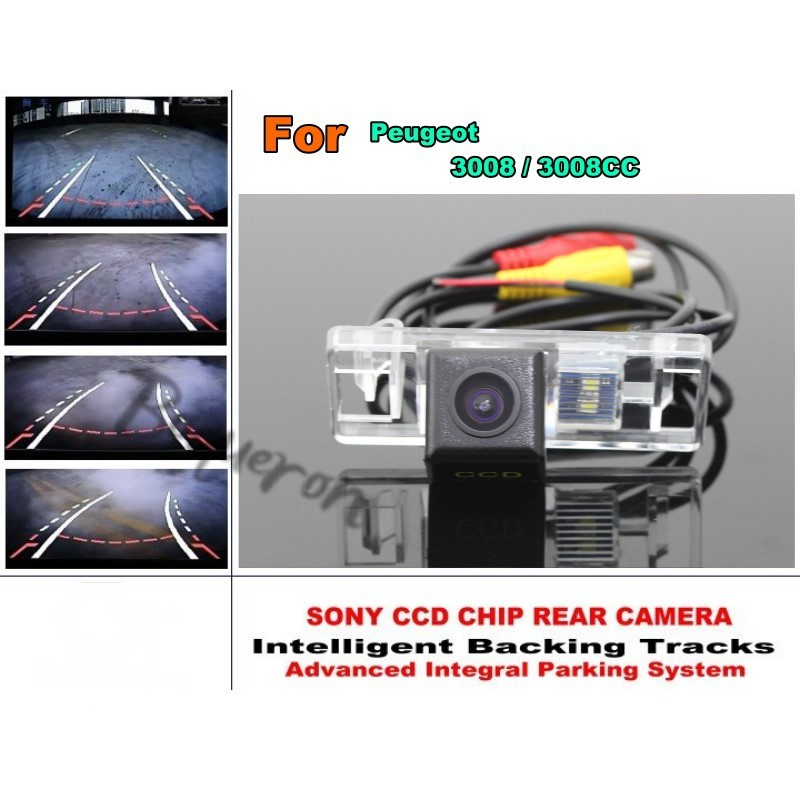 For Peugeot 3008 / 3008CC Car Intelligent Parking Tracks Camera / HD Back up Reverse Camera / Rear View Camera-in Vehicle Camera from Automobiles & Motorcycles    1