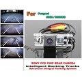 Para Peugeot 3008/3008CC Pistas Aparcamiento Inteligente Cámara/HD copia de seguridad Cámara de Marcha Atrás/Cámara de Visión Trasera