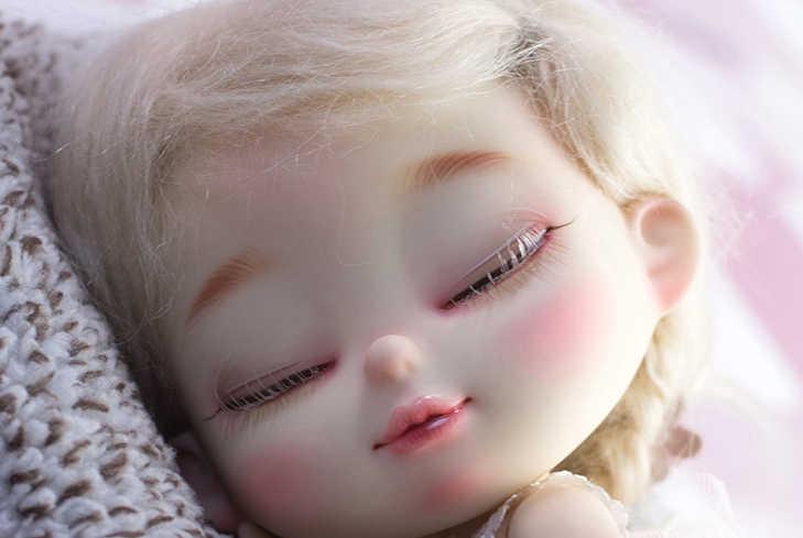 Em estoque 1/8 bru 5 estilo um pc bjd expressão boneca sombrio surpresa choque bolsa lágrimas língua nu renunciar modelo boneca para menina