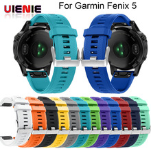 12 colors Soft Silicone Replacement wristband Watch Band bracelet strap for Garmin Fenix 5 For Smart 22mm wrist band