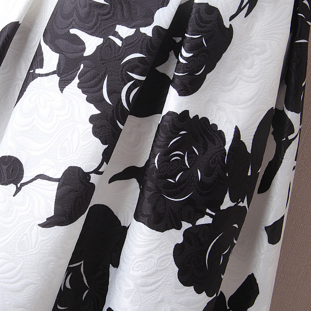 Black-and-white High-waisted Skirt