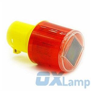 Image 4 - ソーラー警告灯 led 安全信号ビーコン警報エネルギーランプソーラー交通タワーストロボ赤イエロー緊急ライト