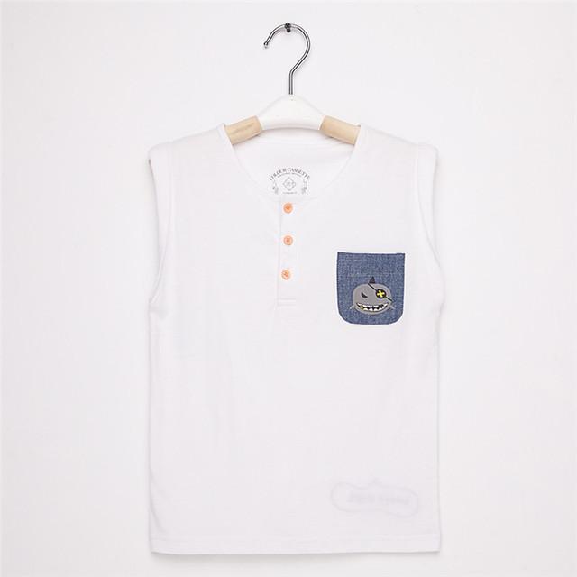 Frete Grátis! Original Projetado Premium 100% Algodão Camisa Henley Pescoço Sem Mangas t camisa do menino. exclusivo!
