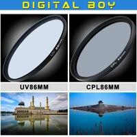 Hot 86mm Ultra Violet UV Lens Filter Protector 86mm CPL Circular Polarizing Filte For Tamron SP