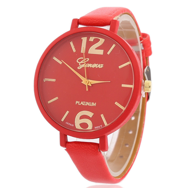 New Style Women Watches Simple Design Girl Quartz Watch Casual Leather Ladies Dress Watches girls xiaoqing new style joker watches girl students simple trend ulzzang leisure retro wrist watches