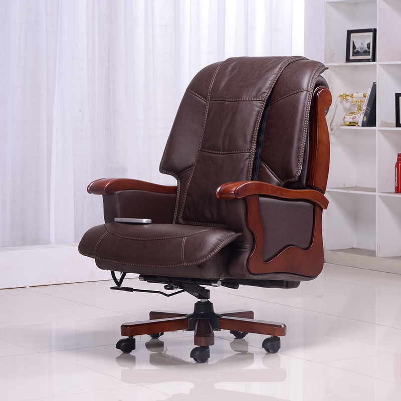 Household Leather Reclining Chairs Office Computers Luxury Massage Chair  High Back Office Chair Wood Chair In Office Chairs From Furniture On  Aliexpress.com ...