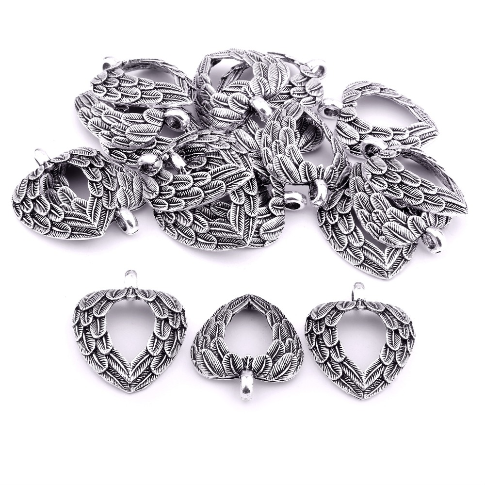 30 Pieces Antique Sliver Charms Pendant Jewelry Findings Making Accessories