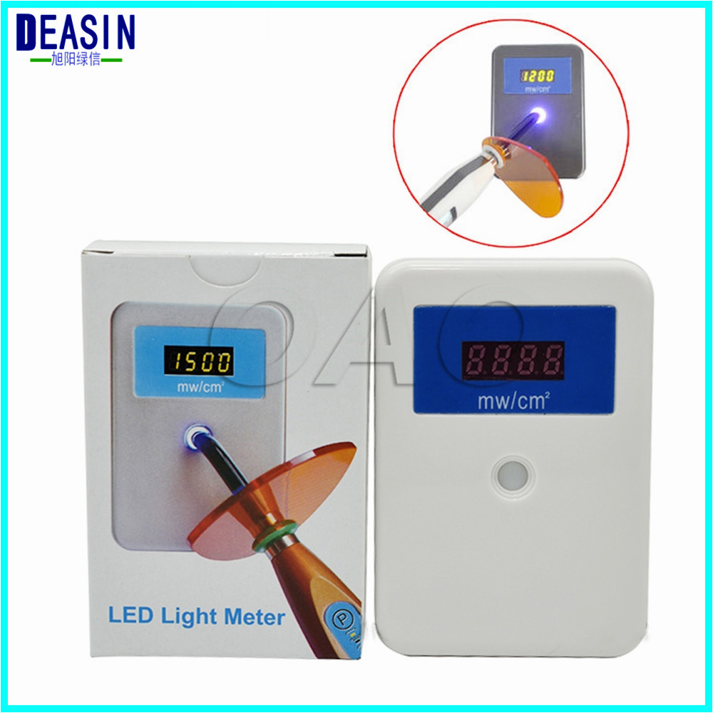 New brand Light Cure Power Curing Light Tester Led curing Light Meter dental supplier material effect on composite polymerisation by light curing units invitro study