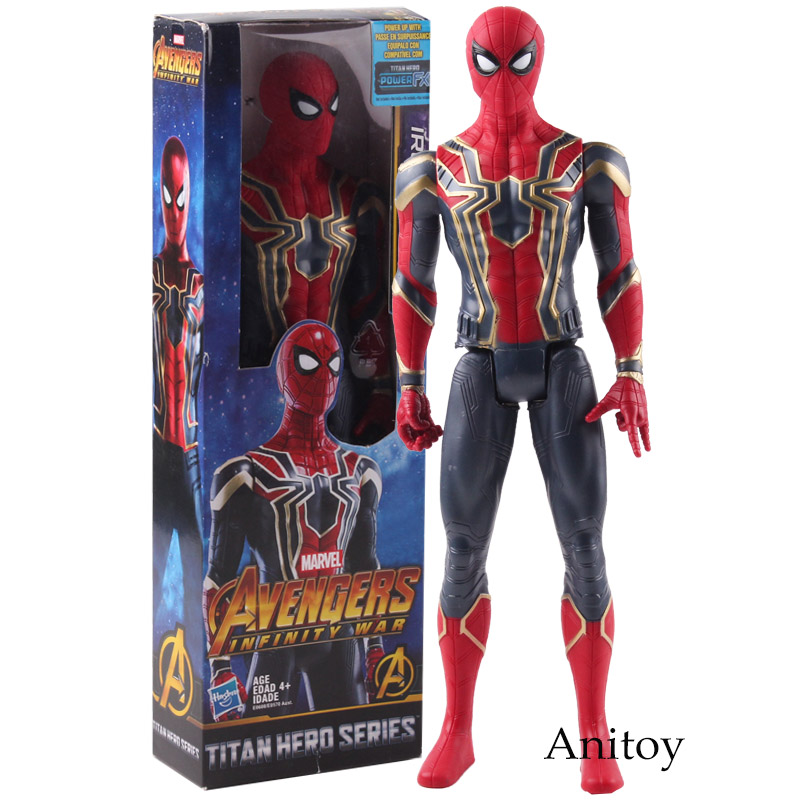Marvel Avengers Infinity War Iron Spider Titan Hero Series Spider Man Spiderman Action Figure PVC Collectible Model Toy