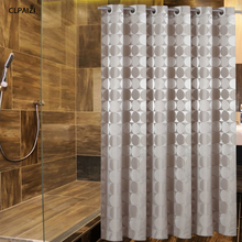 CLPAIZI Bathroom Decoration Shower Curtain by, Round Circle Pattern Waterproof and Mildew Resistant Fabric Bath Curtains D30