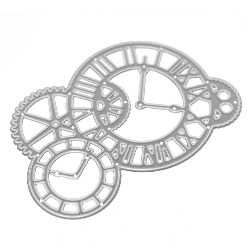Clock Pattern  Metal Cutting Dies Stencils DIY Scrapbooking Paper Card Handmade Decorative Craft Card Supplies