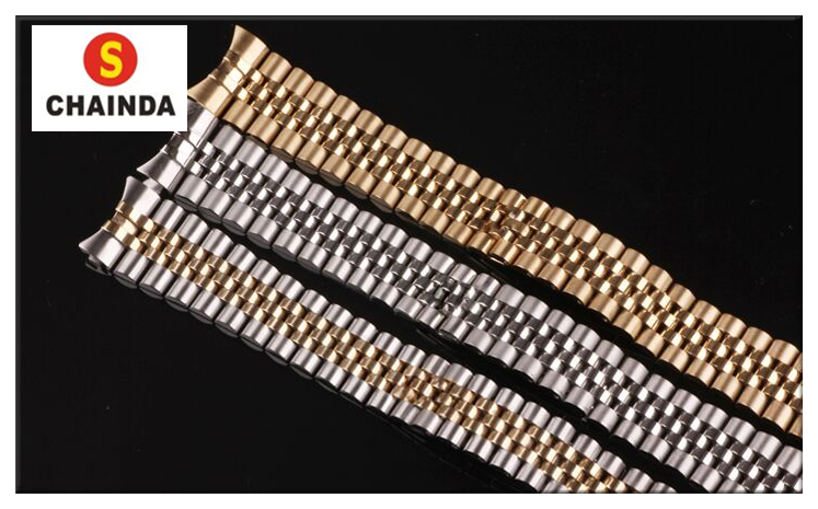 Free Shipping 1 PC Stainless Steel Generic Rlx Watch Strap/Band with Buckle for Watch Repair new arrival watch band carbon fibre watch strap with leather lining stainless steel clasp free shipping