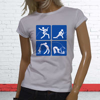 Gildan Funny Print Women T Shirt Rockstar Guitar Rock And Roll Metal Passion Love Womens White