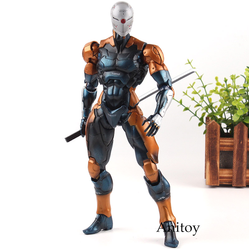 Tactical Espionage Action Figure Metal Gear Solid Cyborg Ninja Gray Fox PVC Play Arts Kai Collection Model Toys Doll Gifts цена и фото