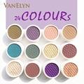 Lo nuevo lo Más Impactante de la Sombra de Ojos 28 Colores Impermeable Durable Acabado Metálico Mate Shimmer Maquillaje de Sombra de Ojos Con Embalaje Agradable