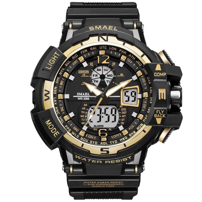 SMAEL Marca Reloj Deportivo Hombres Nueva Moda Impermeable Reloj - Relojes para hombres - foto 4
