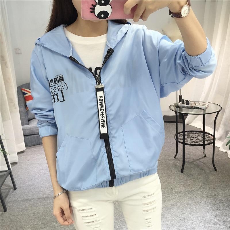 Jackets Women 2018 New Fashion Women Basic Jacket Hooded Thin Outwear Windbreaker Summer Casual Plus Size Female Coat