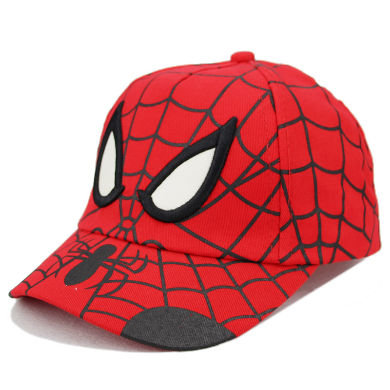 New Hot Sale 21 styles Caps Embroidery Cotton Batman Superman Baseball Cap kids Boy Girl Hip Hop Hat Children's Cosplay Hat Mesh yienws full cap hat baseball for boy