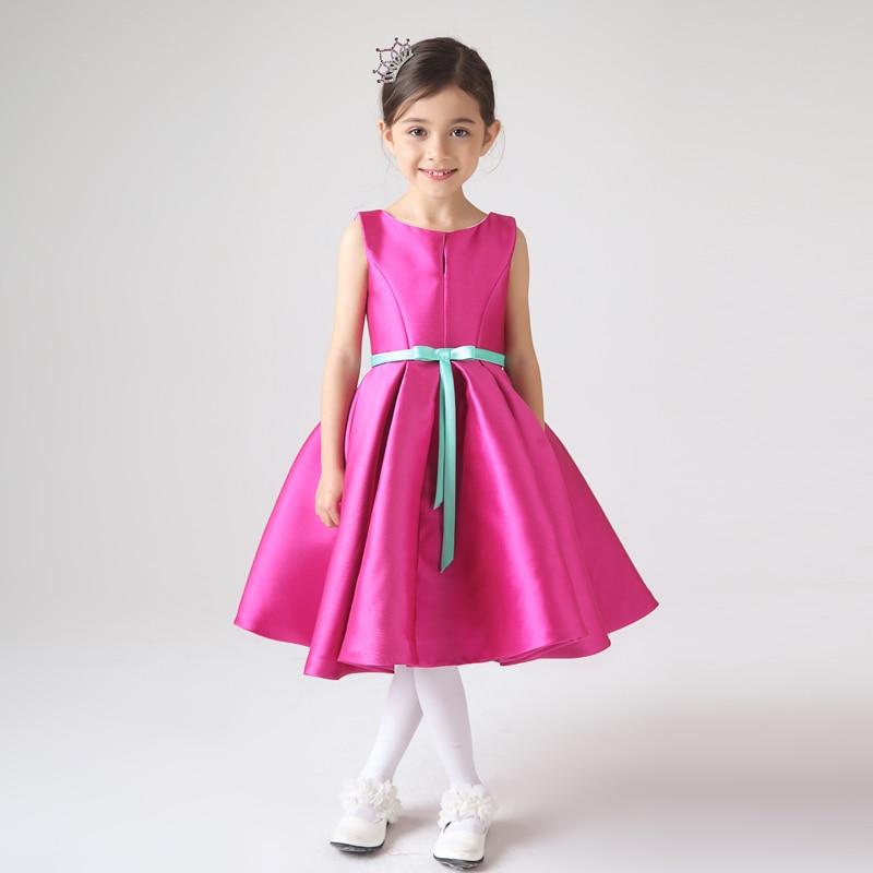Fucsia Corto Vestido de Tafetán Longitud de La Rodilla Vestido de ...