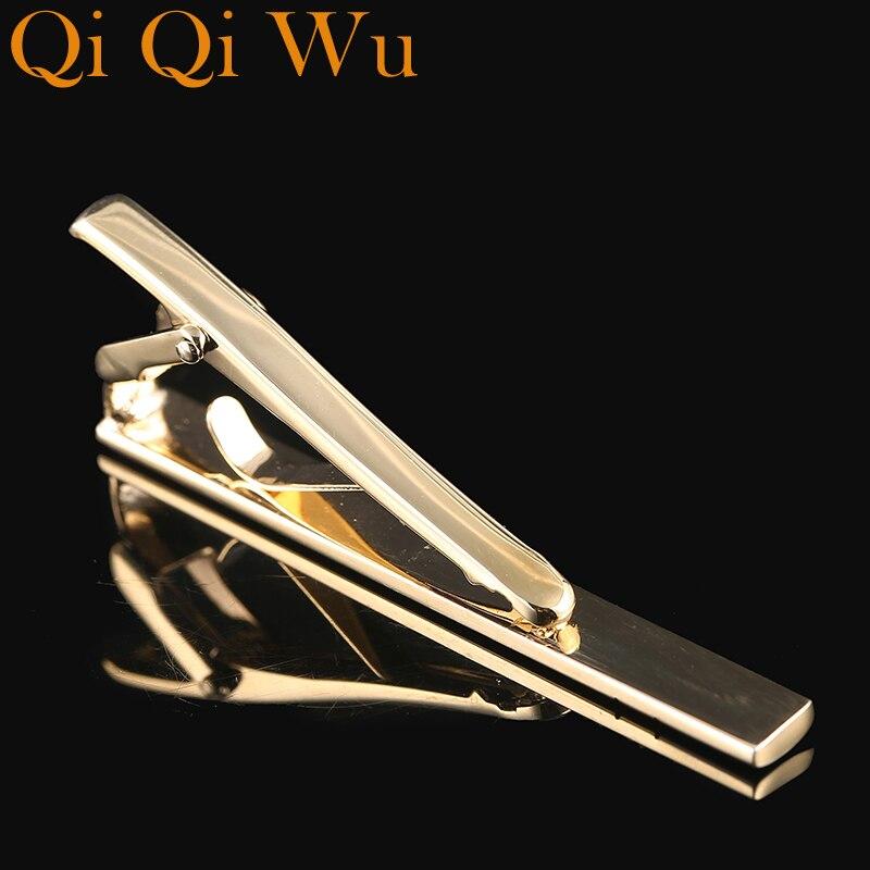 2017 New Personalized Tie Clips Mens Metal Necktie Bar Gold Crystal Formal Dress Shirt Wedding Custom Engraved Tie Clip