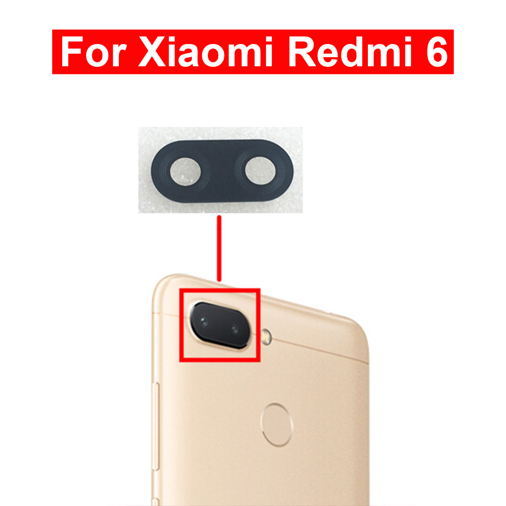 2pcs For Redmi 6 Camera Glass Lens Back Rear Camera Glass Lens With Glue Replacement Repair Spare Parts For Xiaomi Redmi 6 Glass