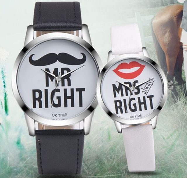 2pcs Fashion Korea Couple Watches Popular Woman Man Casual Quartz Watch Minimali