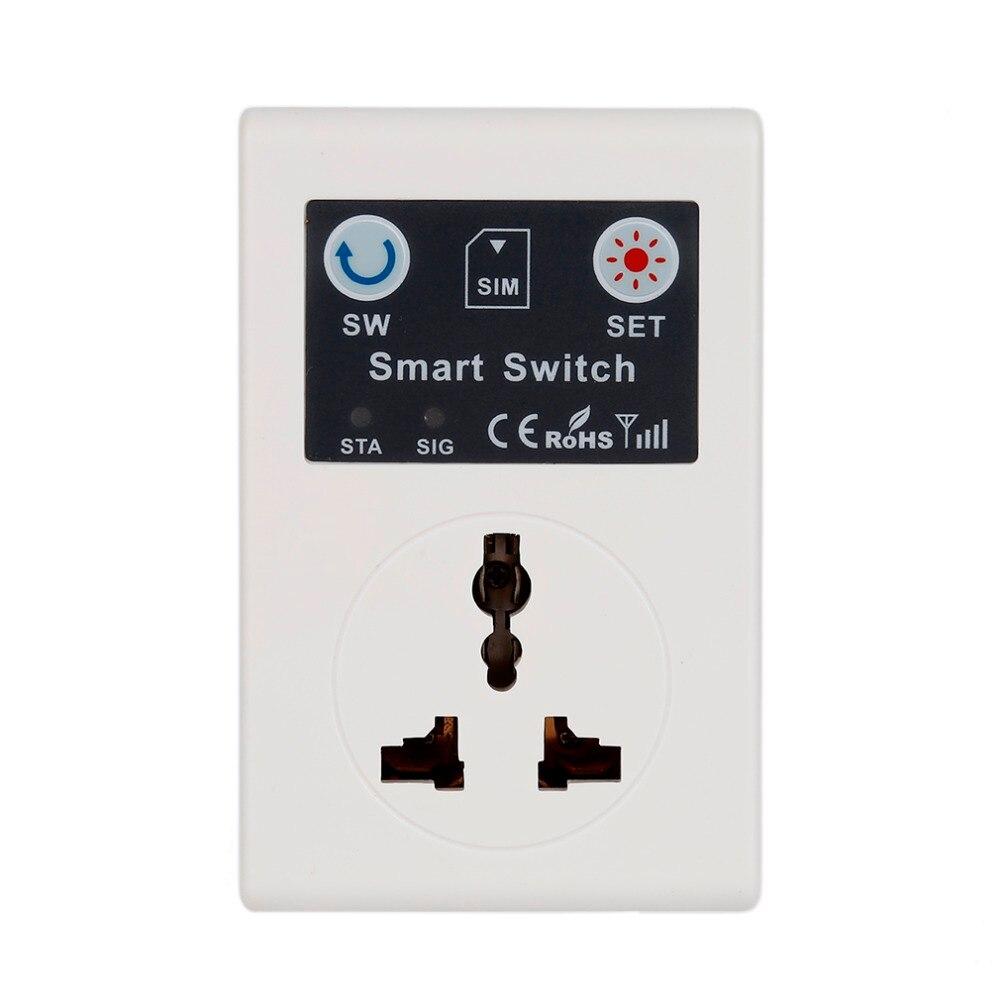 UE 220 V Teléfono RC Control Remoto Inalámbrico Interruptor Inteligente GSM Zócalo Del Enchufe de Energía para el Hogar Electrodomésticos 2016 Top venta
