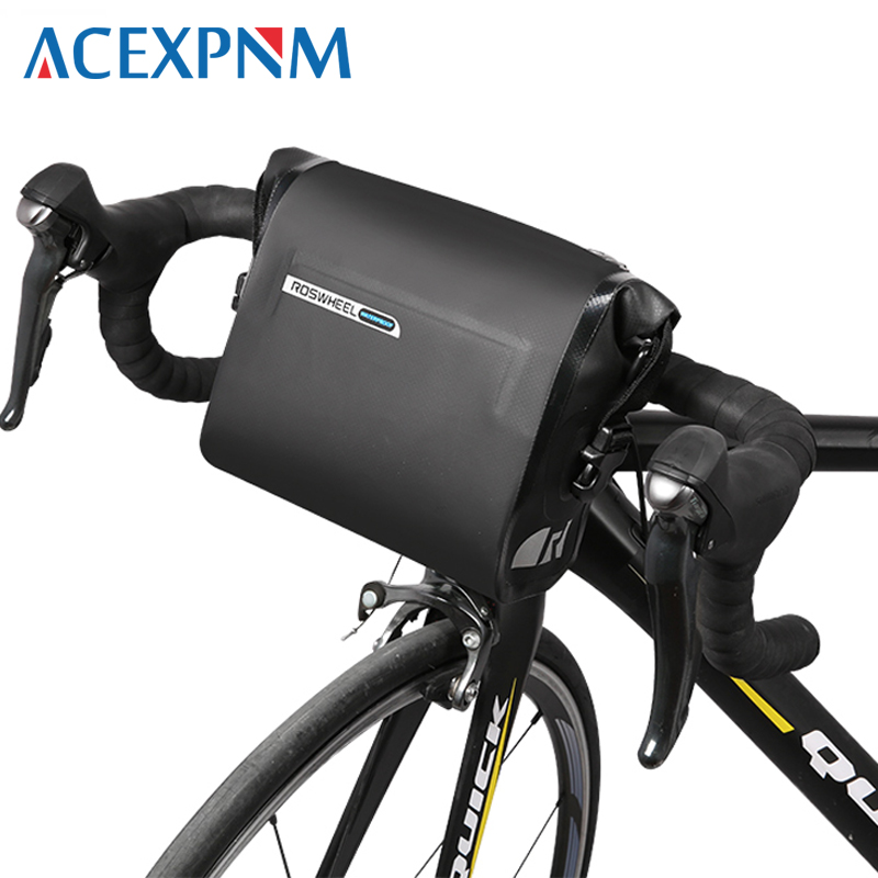 ACEXPNM 2018 3L Cycling Bike Bicycle Handlebar Front Basket PVC Full Waterproof Bags Riding Bike Accessories DRY SERIES roswheel dry 3l cycling bike bicycle handlebar front basket pvc full waterproof bags bike accessories cycle pannier pouch 111361