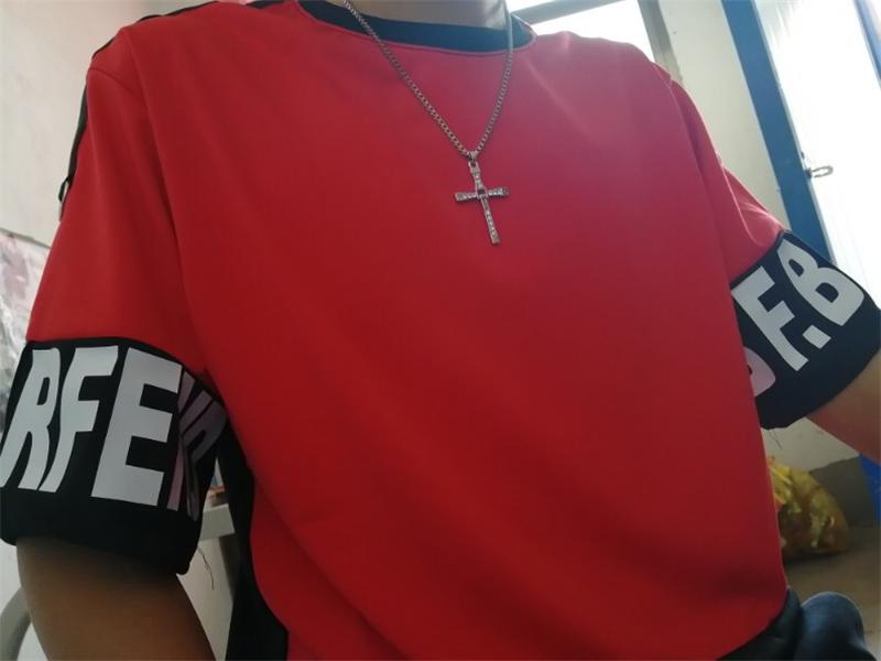 Hip Hop T Shirt Harajuku Streetwear Man's T-shirt Korean Half Anime Shirt Teen Clothes Black Shirt Free gift 15