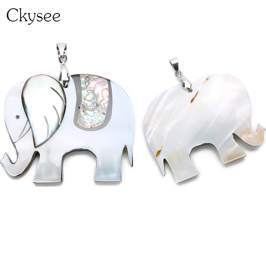 Ckysee 1Pcslot 39x48mm Mixed Color Natural Mother Of Pearl Shell Necklace Abalone Pendant Animals For Diy Jewelry Making F16468