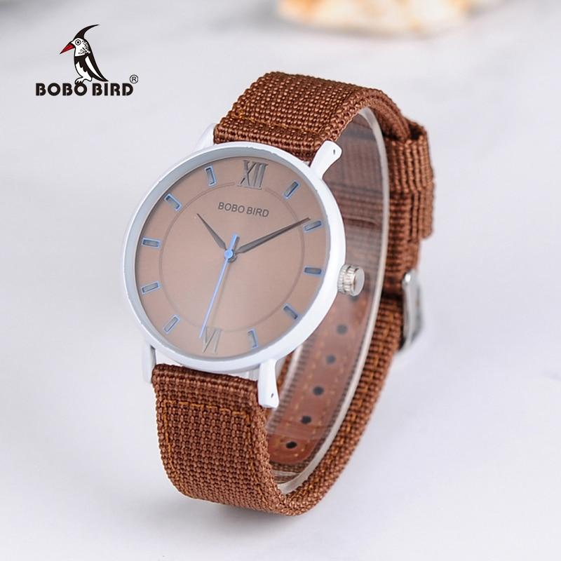 BOBO BIRD WP22 Simple Unisex Watch Classic Thin Case Style Lady Quartz Wristwatch Nylon & Silicon Band Option шкатулка swiss kubik sk01 fa002 wp