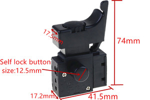 FA2-6/1BEK M9-6/1BEK 6A 5E4 Plastic SPST Lock on Circular Saw Trigger Switch FA2-6
